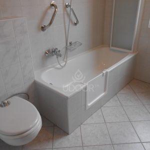 Sheet Metal Bathtub With Brick Wall